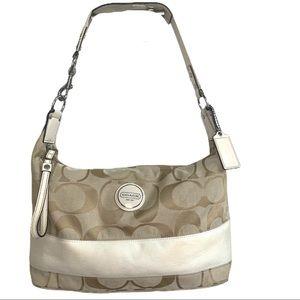 Coach 17434 Signature Stripe Hobo Handbag